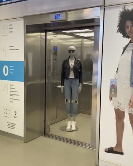 The video Primark posted on social media showing mannequins moving around the closed store. Pic: Pri