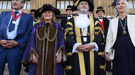 Flashback to last year's mayor-making ceremony. Lord Mayor of Norwich, Vaughan Thomas, with his wife