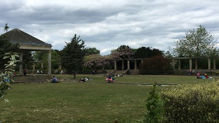 People enjoying Waterloo Park in Nowich on Saturday, May 16, 2020, a week after coronavirus lockdown