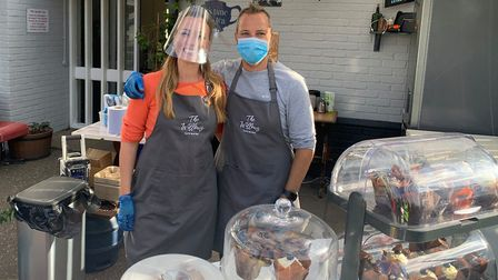 The drive-through street food festival at The Silver Fox in Taverham. The team from the Willows Cafe