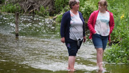 Chance for a paddle in Earlham Park in Norwich on Saturday <23.5.20> of the spring bank holiday. Pic