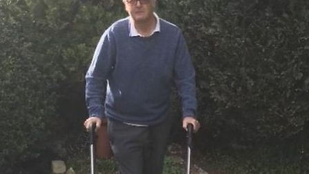 Richard Leigh is walking every day to fundraise for the Multiple Sclerosis Therapy Centre Norfolk. P