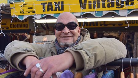 Mark Wright, chairman of the Norwich Market Traders' Association, and owner of Taxi Clothing. Photo:
