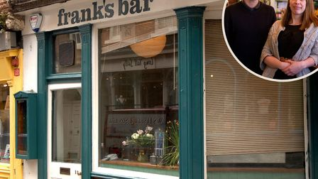 Ella Williams and James Wingfield (inset) owners of Frank's Bar have announced they will be launchin
