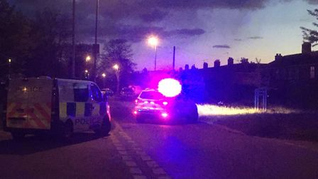 Police at Suckling Avenue in Norwich after being called to reports of a stabbing on Bolingbroke Road
