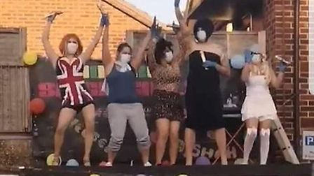 Residents in Orchard Street, Norwich, paid tribute to the NHS with a Spice Girls performance. Pictur