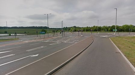 A collision has occured on the A47 on the westbound slip round towards Postwick. Picture: Google