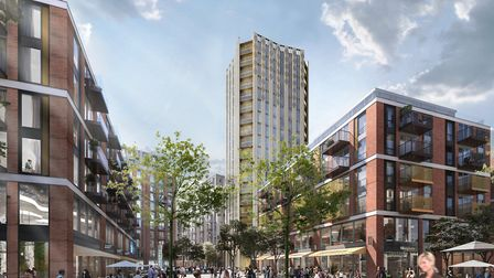 A 20-storey tower is part of the mooted revamp of Anglia Square. Photo: Weston Homes