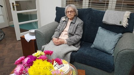 Mabel Delf, a resident of Woodside House care home in Thorpe St Andrew, has turned 103. Picture: Woo