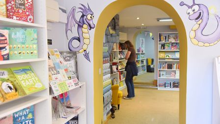 The snakes and ladder game will use their shop characters the bookbug and dragon Picture: Sonya Dunc