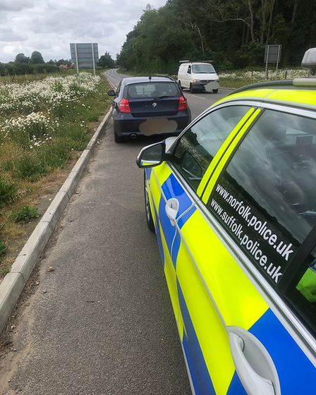 A driver who was speeding at 102mph on Norwich's NDR was caught by police. Pic: Norfolk and Suffolk