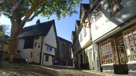The medieval street in Elm Hill, Norwich Picture: Christopher Keeley (iwitness24)