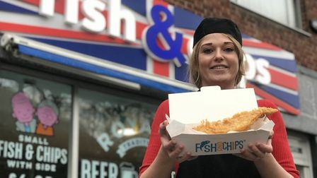 Rianna Royall at Royalls Fish and Chip shop in Castle Meadow. Picture: Neil Didsbury