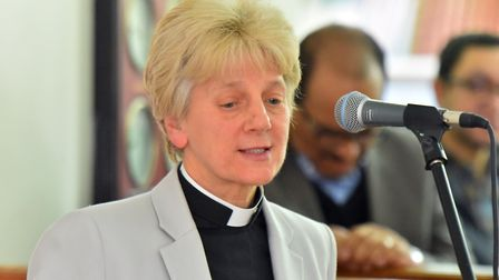 Dean of Norwich Cathedral, Jane Hedges. PICTURE: Jamie Honeywood