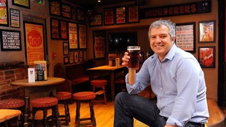 Philip Cutter at the Murderers, Timber Hill. Pic: Archant