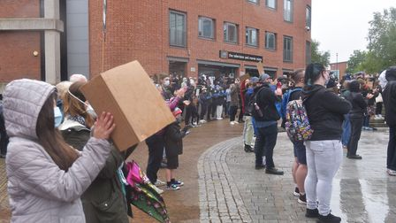 Black Lives Matter Protest at the Forum Norwich 7 June 2020 Pictures: BRITTANY WOODMAN