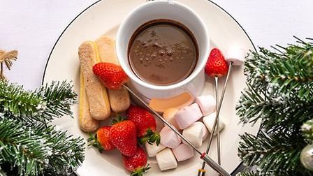 Along with afternoon tea, they are also offering an Apres-Ski menu which includes chocolate fondue P