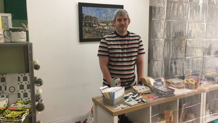 Mikey Smith, of Little Smiths in St Augustine Street, Norwich. Picture: Clarissa Place