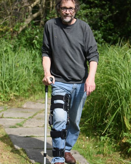 Rob Edye who woke up after being on medication for sepsis to find the country was in lockdown, pictu