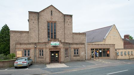 St Peter's methodist church and church halls on Park Lane in Norwich before construction work starte