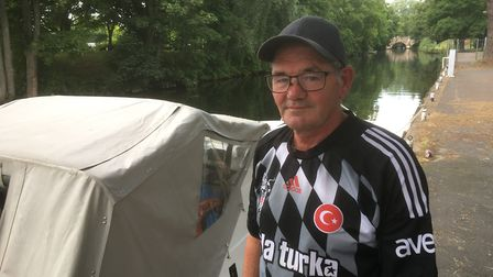 Keith Clarke said the man who died after falling into the River Wensum in Norwich was a 'gentle gian