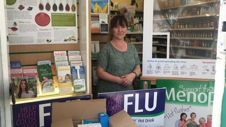 Angela Stephenson, manager of The Natural Food Store on Exchange Street, Norwich. Picture: Sophie Wy