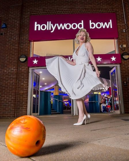 Famous Hollywood star 'Marilyn Monroe' at the launch of Hollywwod Bowl in 2017 after its major refur