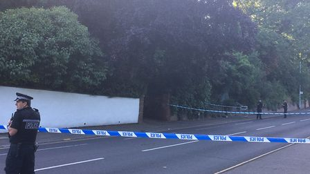 Police have cordoned off part of Drayton Road as part of an investigation into the death of a man fo