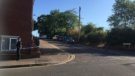 Crome Road, which is part of the investigation into the death of a man who was found in Clapham Wood