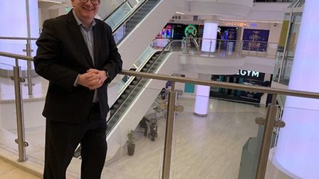 Robert Bradley, Castle Quarter centre manager, pictured before lockdown. Pic: Archant