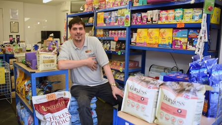 David Lee of Love of Pets, one of the shops open in Magdalen Street in Norwich. Picture: DENISE BRAD