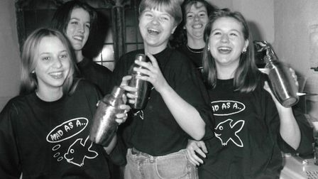 Staff at Norwich nightclub Concept in February 1997.