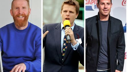 Former Canaries striker Iwan Roberts, Jake Humphrey and Jamie Rednapp who have sent special messages