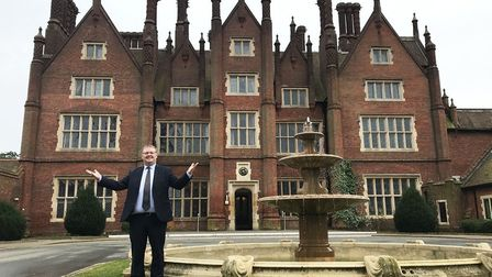 Open for bookings from July 4: general manager David Graham at Norwich's beautiful Dunston Hall. Pic
