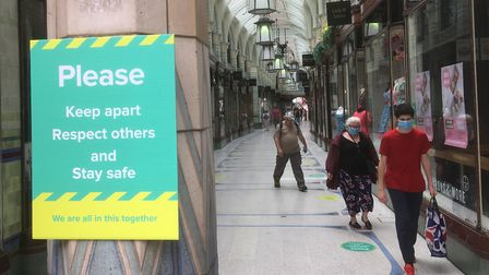 Shops in the Royal Arcade in Norwich have reopened 12 weeks after closing due to coronavirus lockdow