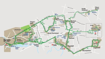 From Sunday 28th June 2020, First Eastern Counties is introducing some changes to its Network Norwic