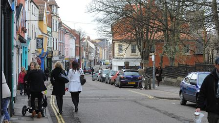 St Benedicts Street at Norwich Lanes. Picture: Denise Bradley