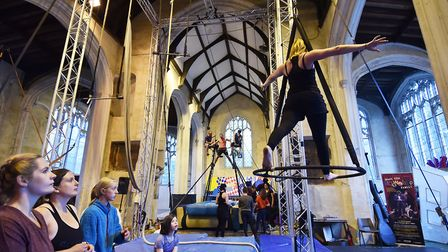 The Fly High Circus Convention at The Oak Circus Centre, which is struggling without government guid