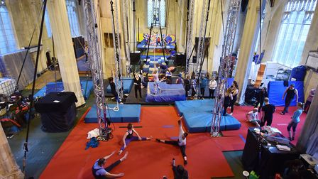 The Fly High Circus Convention at The Oak Circus Centre - which could close by next year without sup