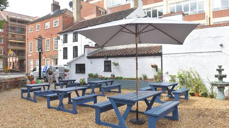 The garden at new vegan restaurant The Gatherers in Norwich Pictures: BRITTANY WOODMAN
