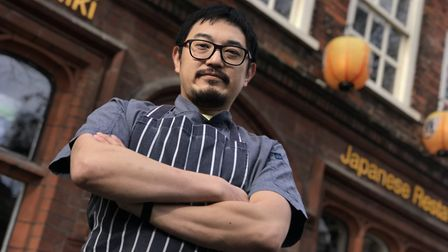 Owner and chef Shun Tomii at Shiki Japanese restaurant. Photo: Neil Perry