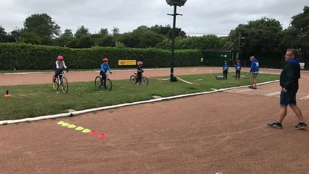Hethersett Hawks Cycle Speedway Club has been able to return and host sessions after lockdown. Pictu