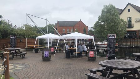 The new beer garden opens at The Waterfront in Norwich Picture: Louisa Baldwin
