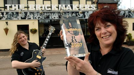 The Brickmakers is an award-winning music pub, pictured is Charley and her mum Pam South (L-R) who r