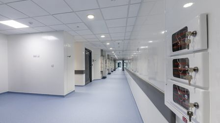 Images of the negative pressure isolation ward at the Norfolk and Norwich University Hospital. Pictu