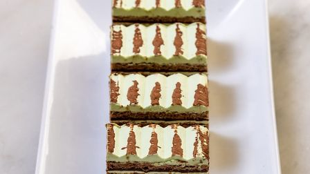 The mint chocolate chip gateau opera in the afternoon tea Picture: Steve Adams for The Assembly Hous