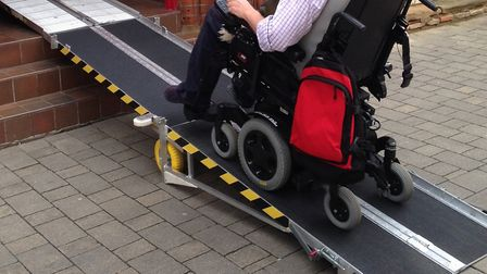 The disability ramp which was stolen from outside a flat on St George's Street, Norwich. Picture: No