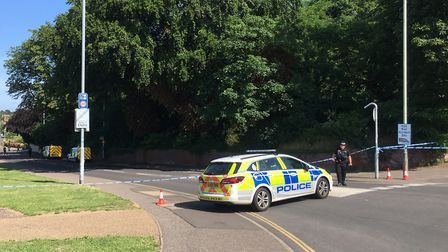 Police cordoned off part of Drayton Road and St Martins Road after Daniel Littlewood was found dead