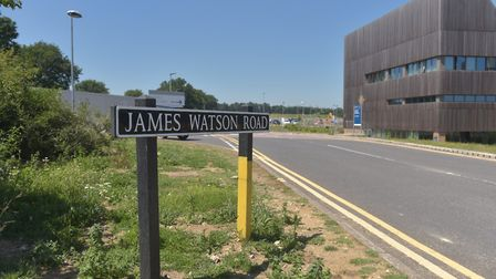 James Watson Road Norwich to be renamed Rosalind Franklin Road next week Pictures: BRITTANY WOODMAN