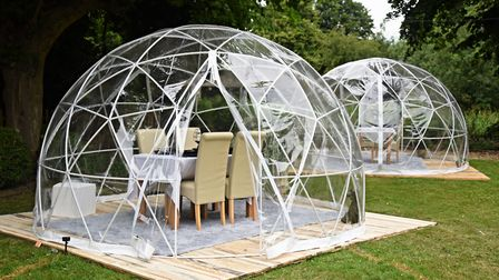 The new VIP Pods for dining at the Gibraltar Gardens in Norwich. Picture: DENISE BRADLEY